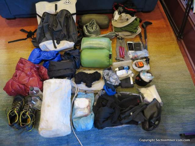 Appalachian Trail Section Hike Gear List  2016  NOBO