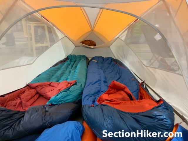 Big Agnes has added gears lofts at the foot end of their tents.