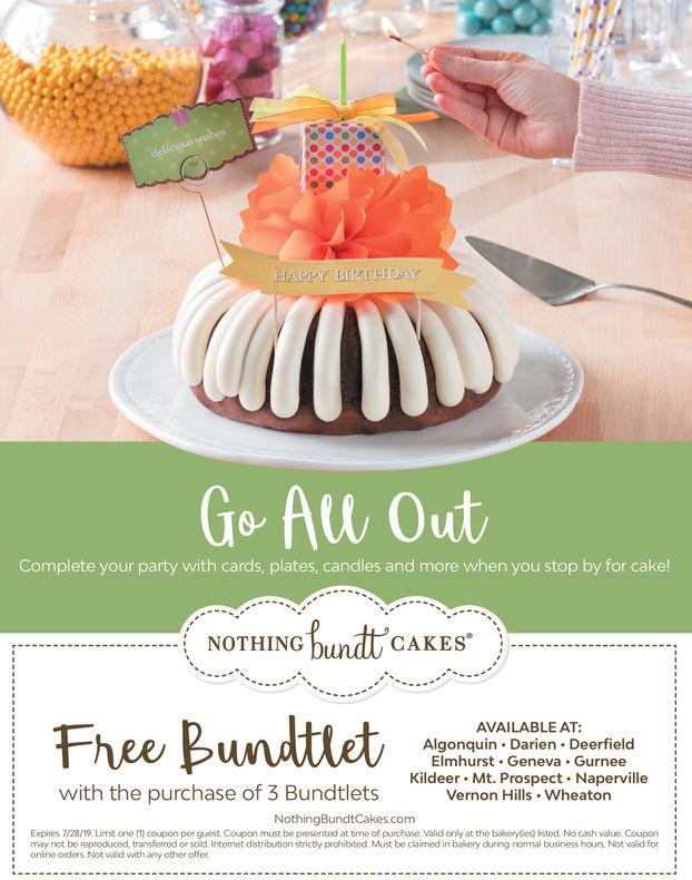 Nothing Bundt Cake Coupons : nothing, bundt, coupons, MONDAY,, Nothing, Bundt, Cakes, Algonquin, Daily, Herald, (Paddock)
