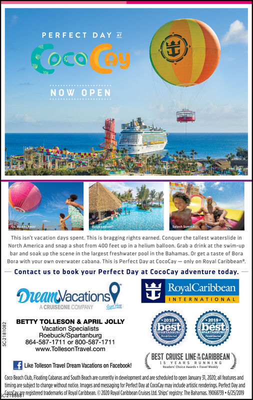 Sunday March 1 2020 Ad Tolleson Travel Dream Vacations The Spartanburg Herald Journal