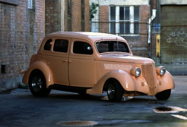1936 Ford Hot Rod Humpback 4 door all Steel sedan  Groova