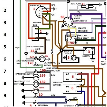 triumph wiring diagram spatial of fast food schematics colour coded for jaguar & - shannons club