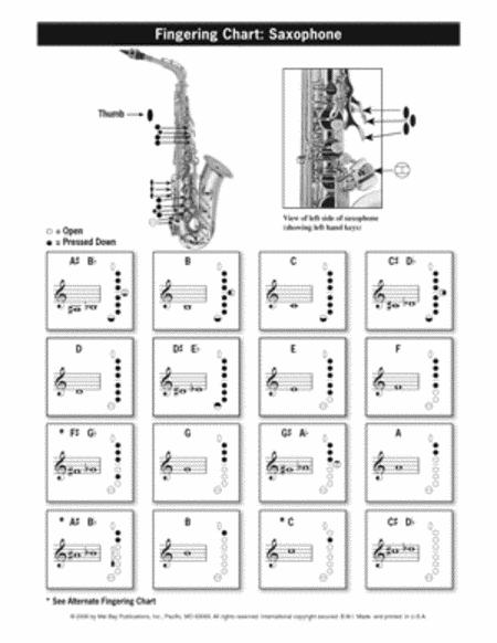 Partitions : Saxophone Fingering & Scale Chart (Saxophone)