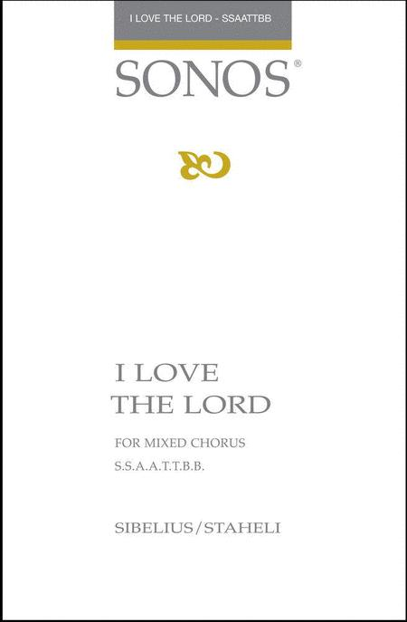 Sheet music: I Love the Lord (SSAATTBB A Cappella)