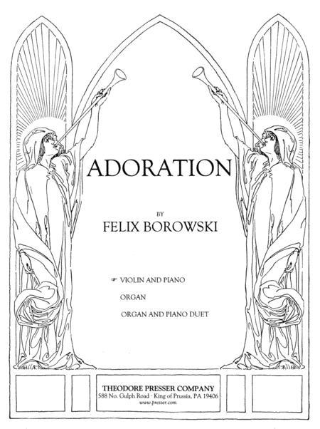 Sheet music: Adoration (Violin and Piano)