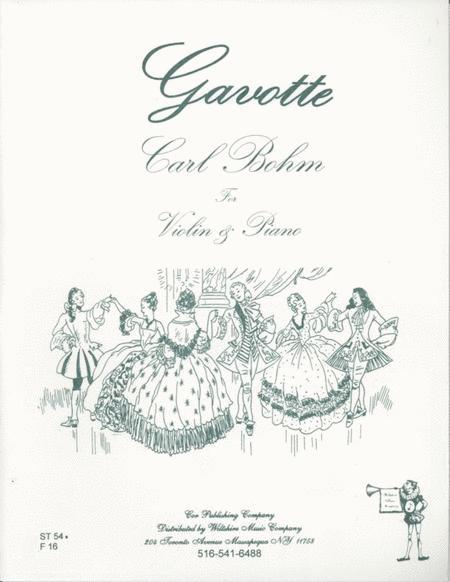 Sheet music: Gavotte (Violin and Piano)