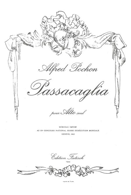 Sheet music: Passacaglia (Viola)
