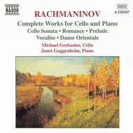 Complete Works for Cello and P by Sergei Rachmaninoff sheet music