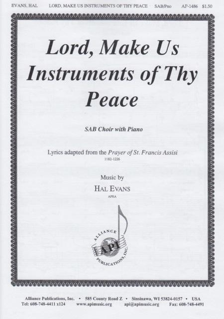Sheet music: Lord, Make Me an Instrument of Thy Peace