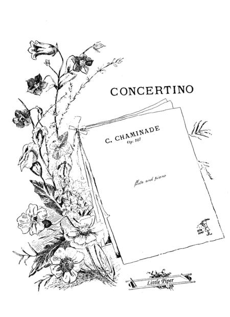 Sheet music: Concertino (Flute and Piano)