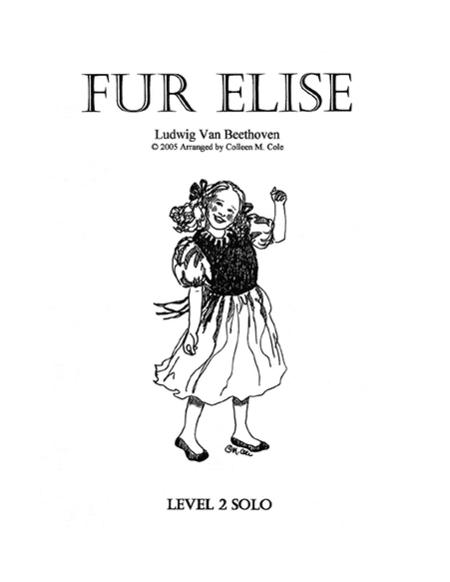 Sheet music: SOLO: Fur Elise (Levels 1 & 2) (Piano solo)