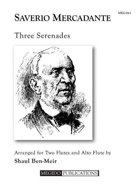 Sheet music: Three Serenades (Flute ensemble)