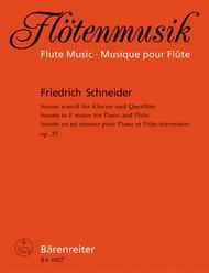 Sonate fur Flote und Klavier e-Moll op. 35