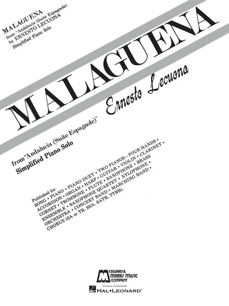 Sheet music: Malaguena (Piano solo)