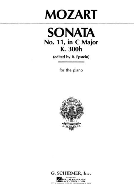 Sheet music: Wolfgang Amadeus Mozart : Sonata No. 11 in C