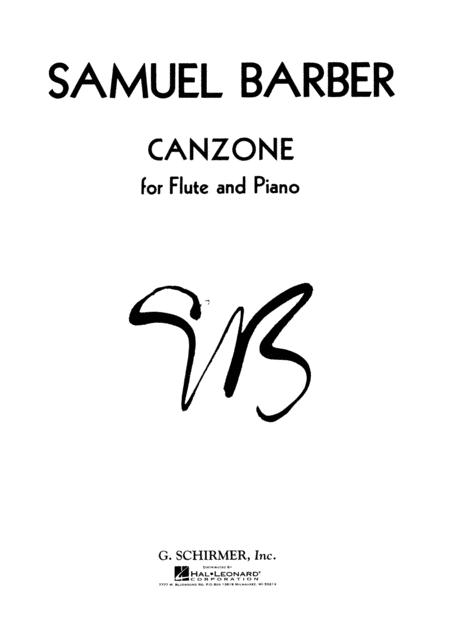 Sheet music: Canzone (Flute and Piano)