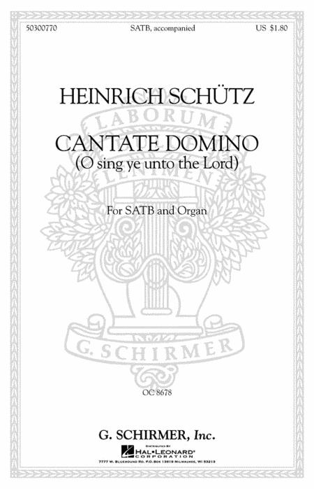 Sheet music: Cantate Domino Sing Ye Unto The Lord Latin