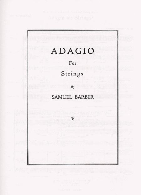 Sheet music: Samuel Barber: Adagio for Strings, Op. 11