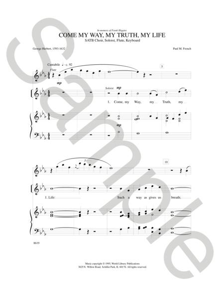 Sheet Music : Come My Way, My Truth, My Life