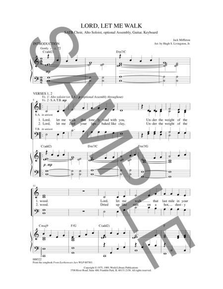 Sheet music: Lord, Let Me Walk (SATB)
