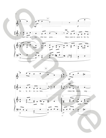 Sheet music: May Angels Lead You into Paradise (|organ