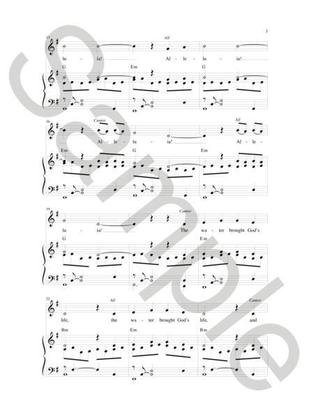 Sheet music: I Saw Water Flowing (Choral Unison)