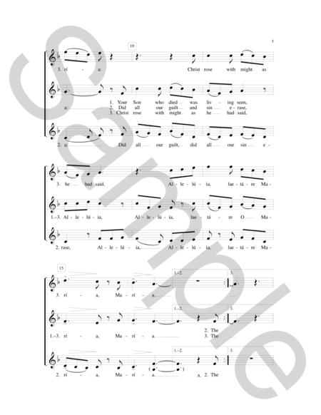 Sheet music: Regina Caeli