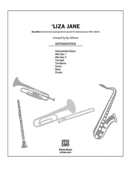 Sheet music: 'Liza Jane (|alto saxophone|trombone|trumpet
