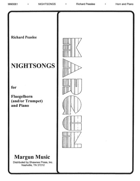 Sheet music: Richard Peaslee: Nightsongs (Bugle and Piano)