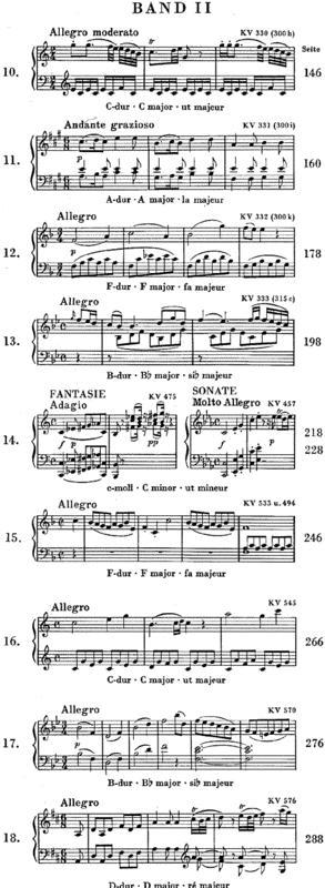 Sheet music: Wolfgang Amadeus Mozart: Klaviersonaten