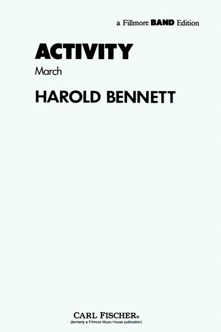 Sheet music: Activity (March) (Concert band)