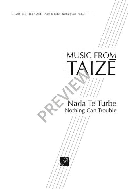 Sheet music: Nada Te Turbe / Nothing Can Trouble (SAT, Piano)