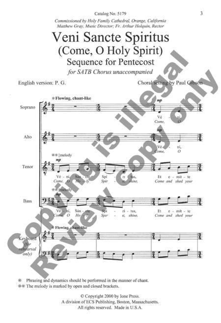 Partitions : Veni Sancte Spiritus (Chorale SATB)