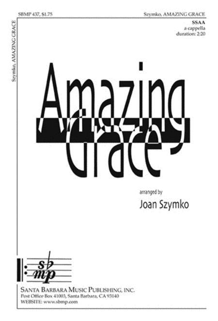 Sheet music: Amazing Grace (SSAA A Cappella)