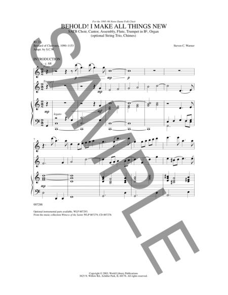 Sheet music: Behold, I Make All Things New (SATB)