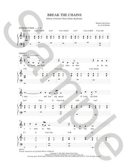 Sheet music: Break the Chains