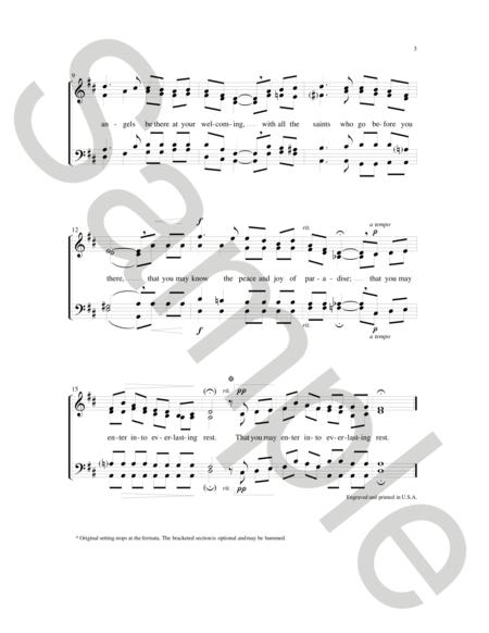 Sheet music: Celtic Song of Farewell (SATB A Cappella)