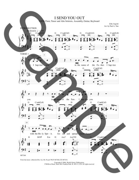 Sheet music: I Send You Out (|guitar|organ|piano||choral