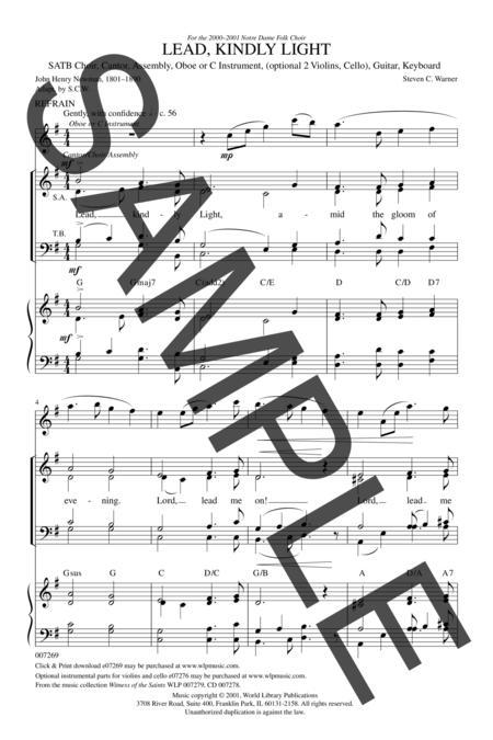 Sheet music: Lead Kindly Light (SATB)