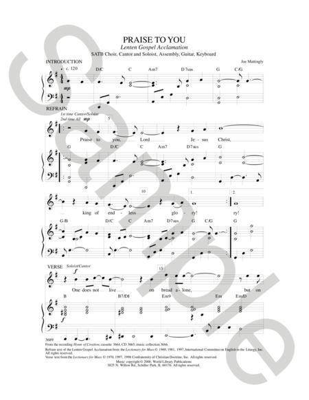Sheet music: Gospel Acclamations