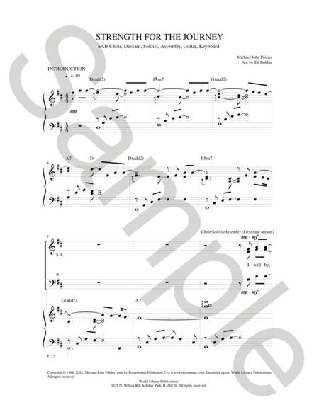 Sheet music: Strength for the Journey (SAB)