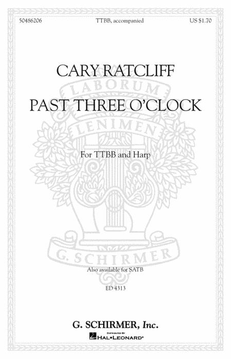 Sheet music: Past Three O'Clock (TTBB)