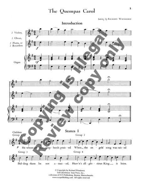 Sheet music: The Quempas Carol (Full Score) (SATB)