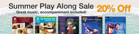 20% Off of Play Alongs on Sheet Music Plus