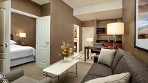 Night Hotel Suite Living Room