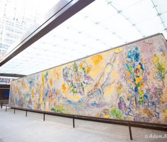 The Four Seasons By Marc Chagall Chicago Public Art