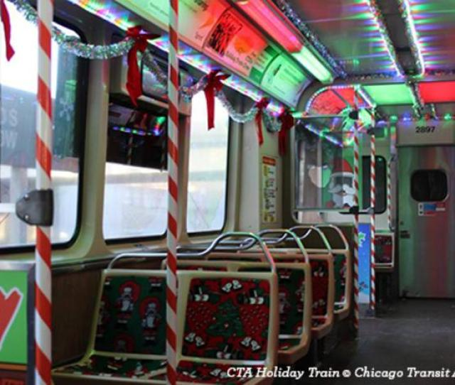 Interior Of Cta Holiday Train In Chicago