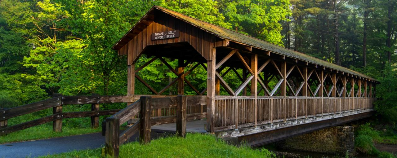 Adirondack Fall Wallpaper New York Covered Bridges Hyde Hall Battenkill River