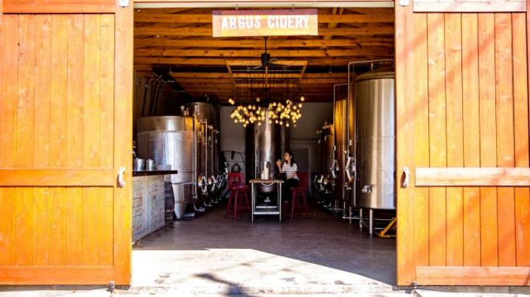 Argus Cidery, one of the breweries west of Austin
