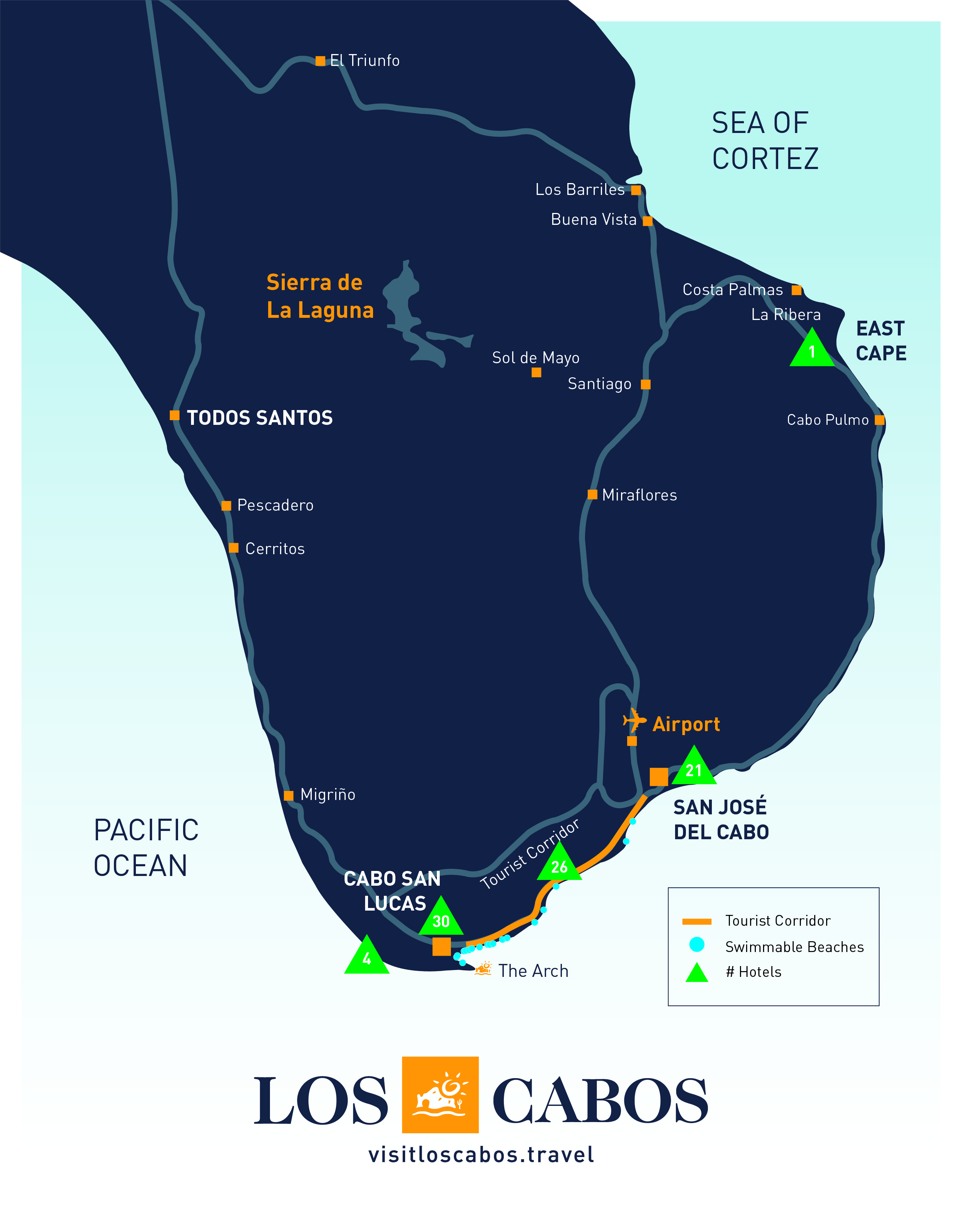 Map Of Cabo Hotels : hotels, Guides, Visit, Cabos, Lucas, José